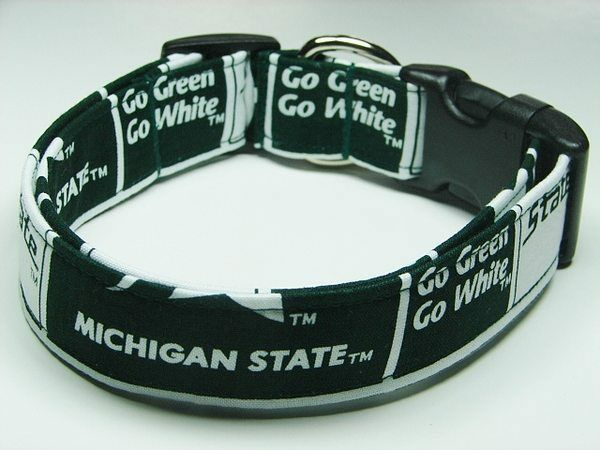 Michigan State Dog Collar And Leash