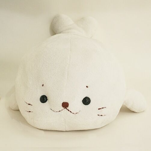 Washable Japanese Soft Plush Doll Pillow SIROTAN M Size