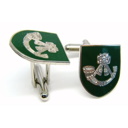 img-THE LIGHT INFANTRY ARMY CUFFLINKS MILITARY BADGE GIFT IN BOX