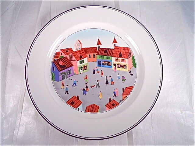 villeroy boch design naif salad plate old village square ebay. Black Bedroom Furniture Sets. Home Design Ideas