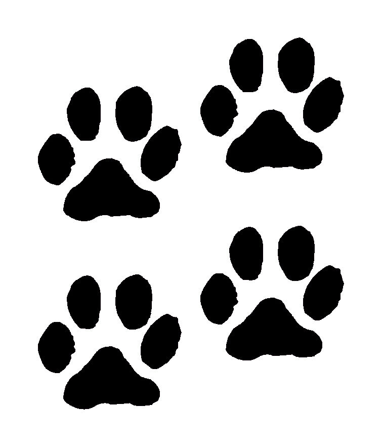 Sizzling image inside printable paw print