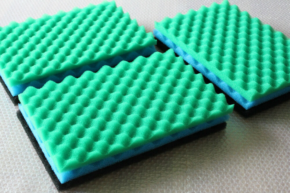 3 sets of fish pond foam filter sponge set 17 x 11 media for Pond filter sponges