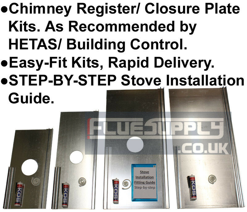 Register Closure Plate Kit For Chimney Stove Installations