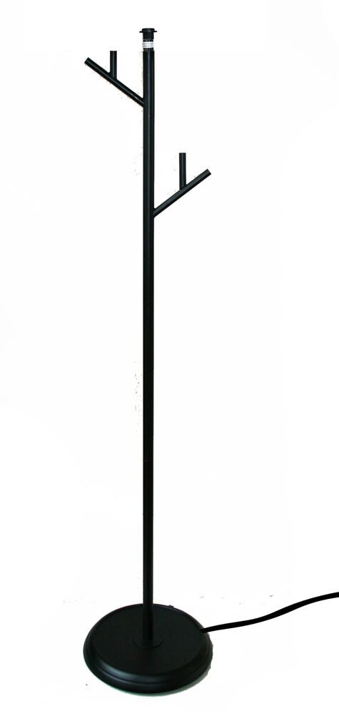 Black floor lamp stand tree branch contemporary light ebay for Tree floor lamp uk