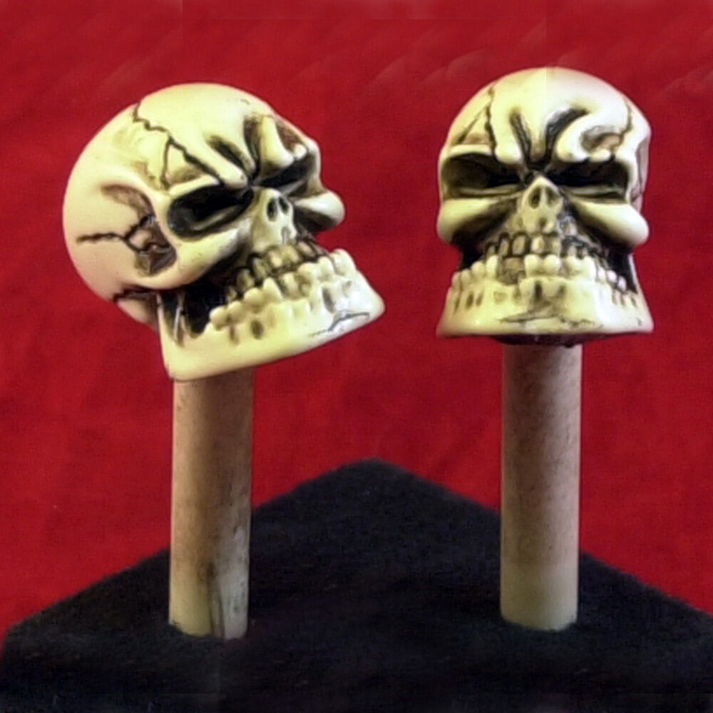 2 Made In Usa Skull Door Lock Knobs Shift Pins Skeleton