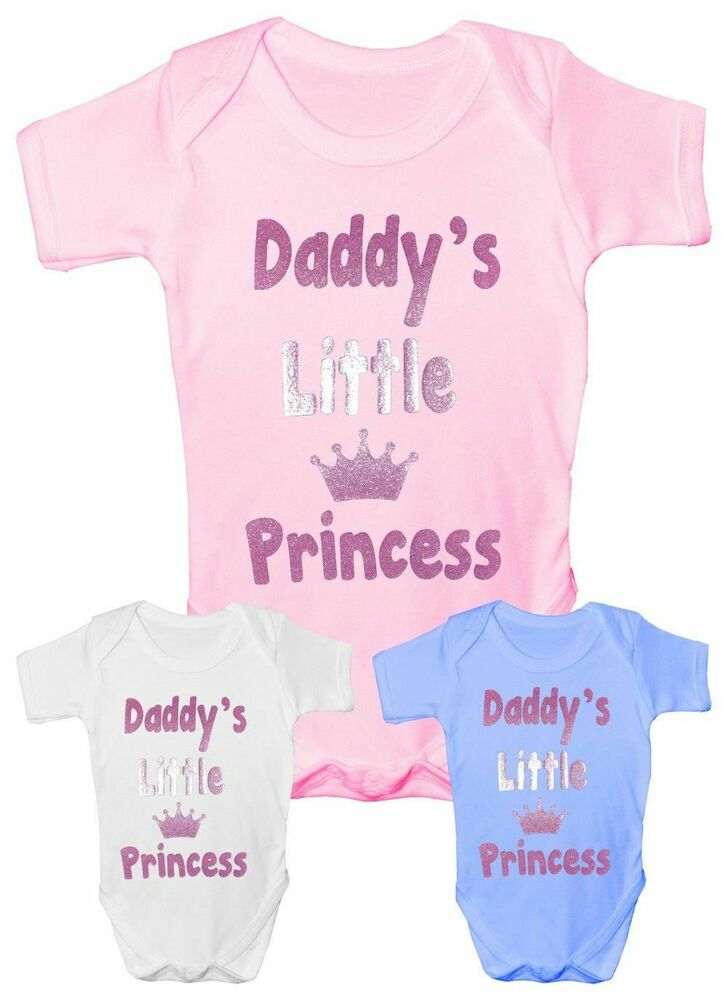 Funny Baby Gifts Uk : Daddy s little princess funny babygrow vest baby clothing