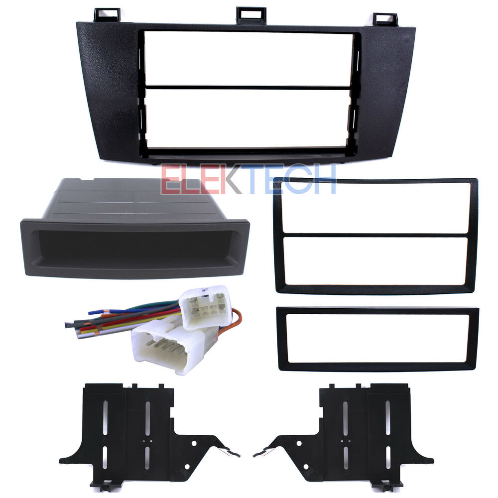 Radio Replacement Dash Mount Kit 2 Din W Pocket Harness