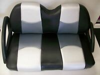 Club Car DS '99   Golf Cart Rear Flip Seat & Seat Cover Combo Pkg(Frnt and Rear)