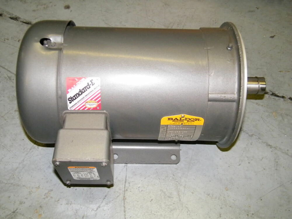 Baldor ac motor 2 hp cm3614t 230 460v gearbox 1160rpm new for 300 hp ac electric motor
