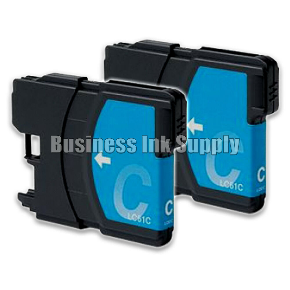 2 CYAN New LC61 Ink Cartridge For Brother Printer DCP