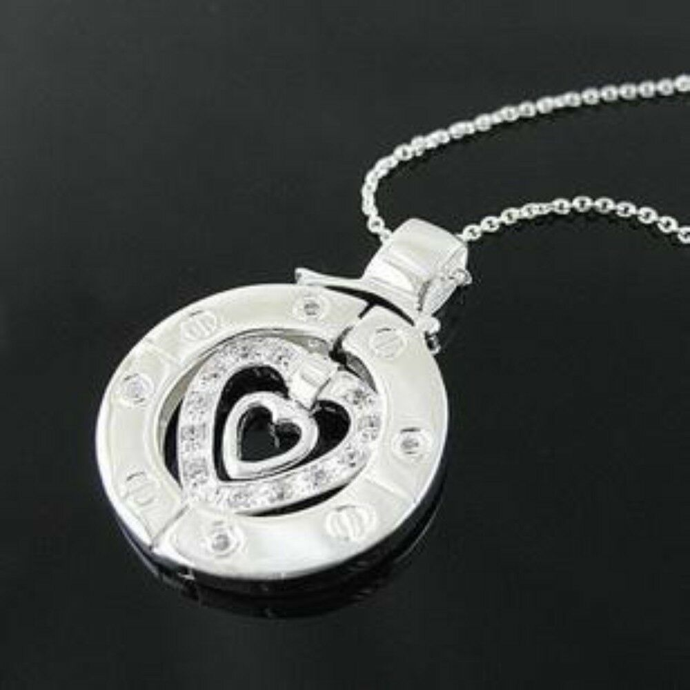 His And Hers Watch Sets >> Korean Drama TV Stairway to Heaven Couple CZ Stone Silver Plated Necklace SET | eBay