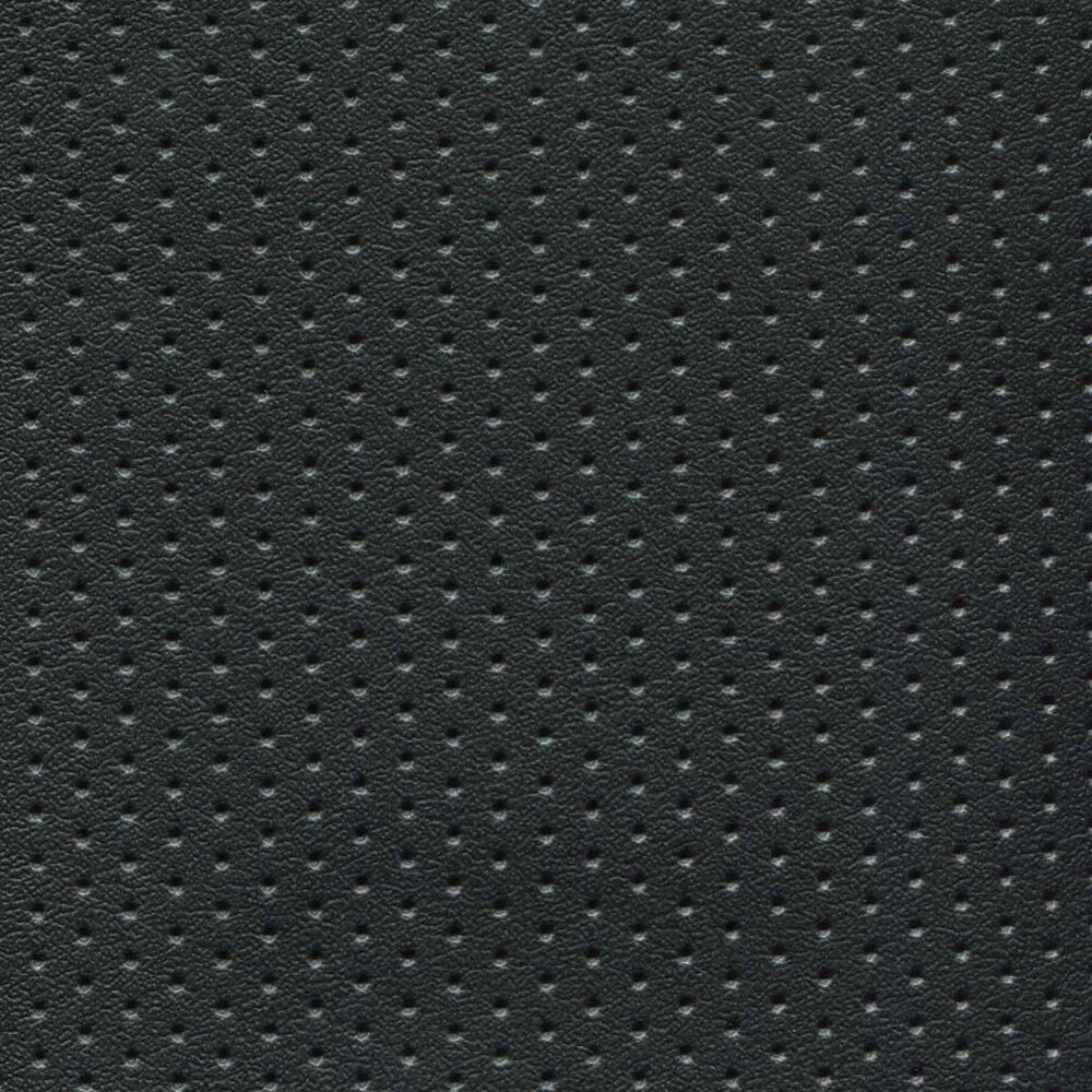 Black Perforated Naugahyde Marine Seating Upholstery Vinyl
