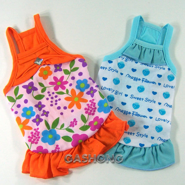 Dog Amp Cat Clothes Various Patterns Skirts Halters Dress E311