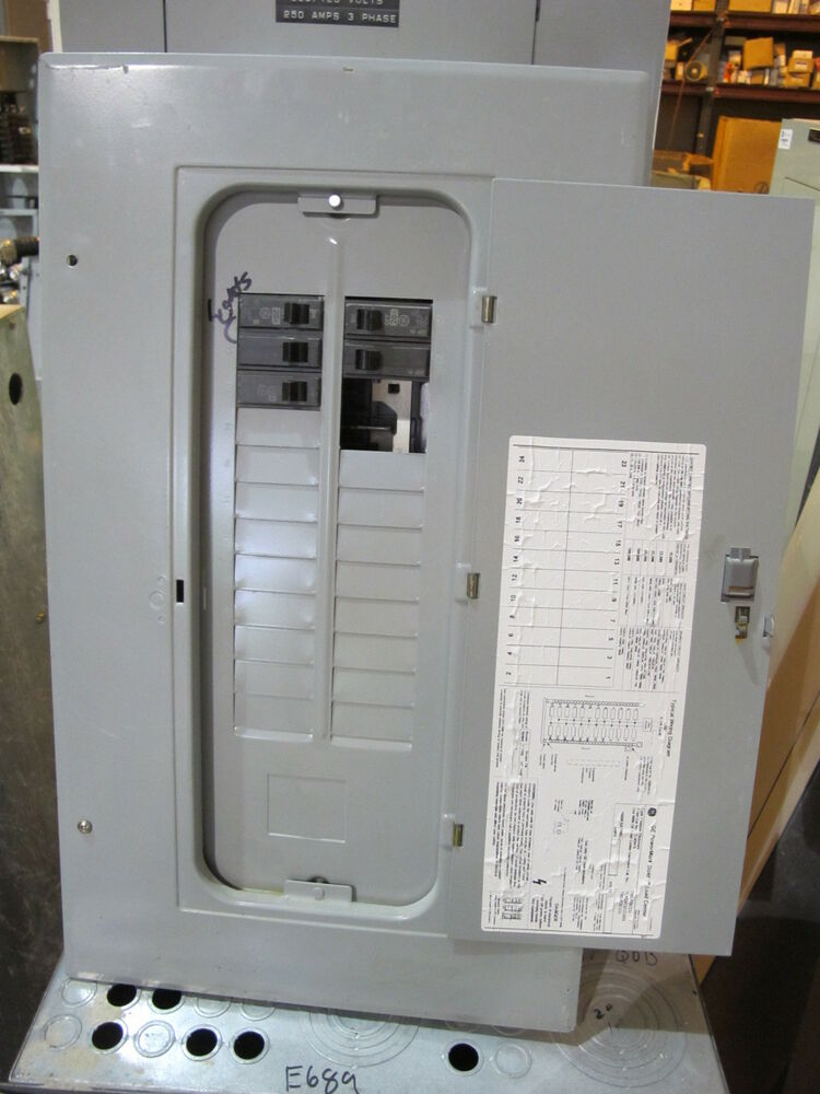 a main breaker panel wiring ge tlm2412ccu 125 amp main lug, 1 phase load center - e697 ...