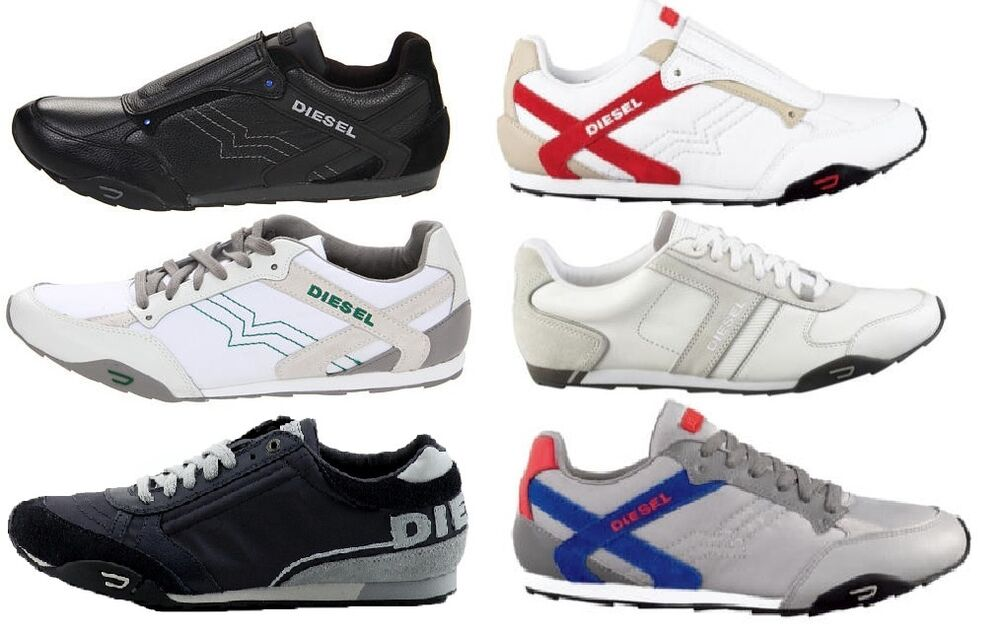 DIESEL MENS LACE OR SLIPON SNEAKERS/CASUAL/FASHION SHOES ...