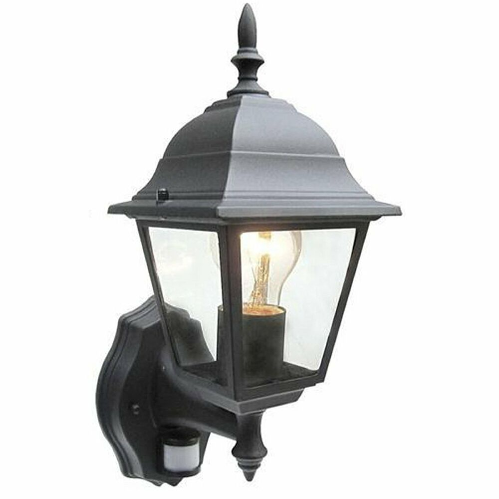 Patio Motion Lights: NEW BLACK SECURITY LIGHT WITH PIR MOTION SENSOR DETECTOR