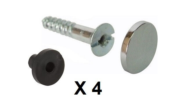 bathroom mirror fixings mirror fixing screws washers chrome caps fittings pack 11029