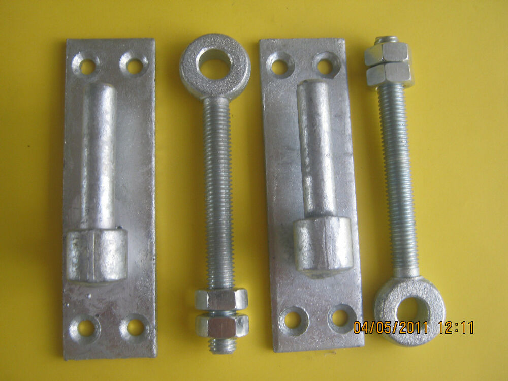 Galvanised Wrought Iron Gate Hinges 12mm Pin With Bzp
