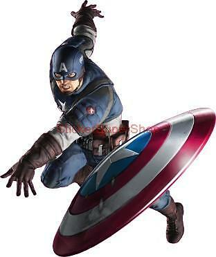 Choose Size CAPTAIN AMERICA Decal Removable WALL STICKER Art Home Decor Avengers