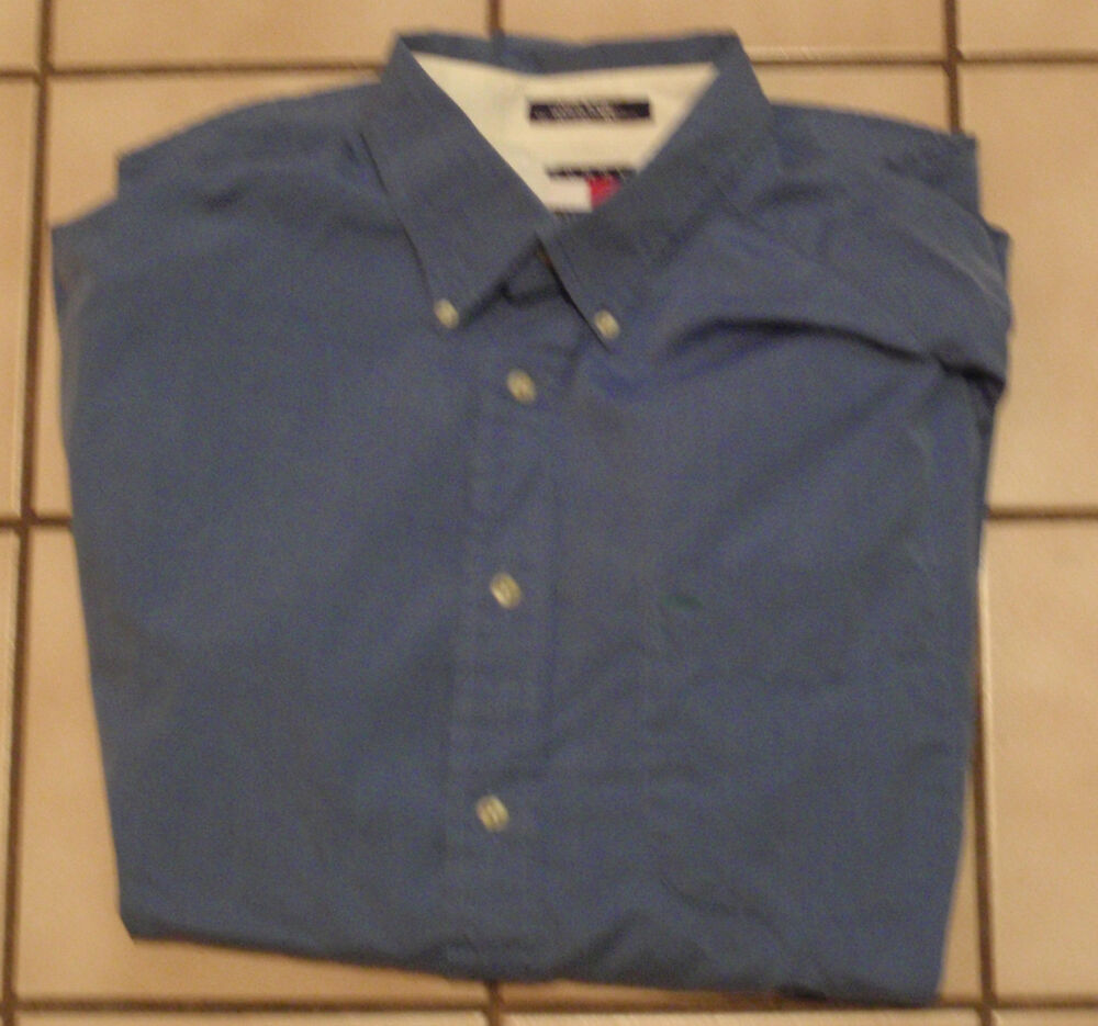 Really nice tommy hilfiger mens blue button down shirt for Nice mens button up shirts