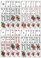 FULL DECK OF PLAYING CARDS - ALL SUITS  EDIBLE CUP CAKE TOPPER RICE WAFER PAPER