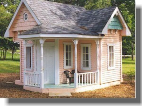 D i y shed log cabin summer play house barn garage for Log cabin garage plans