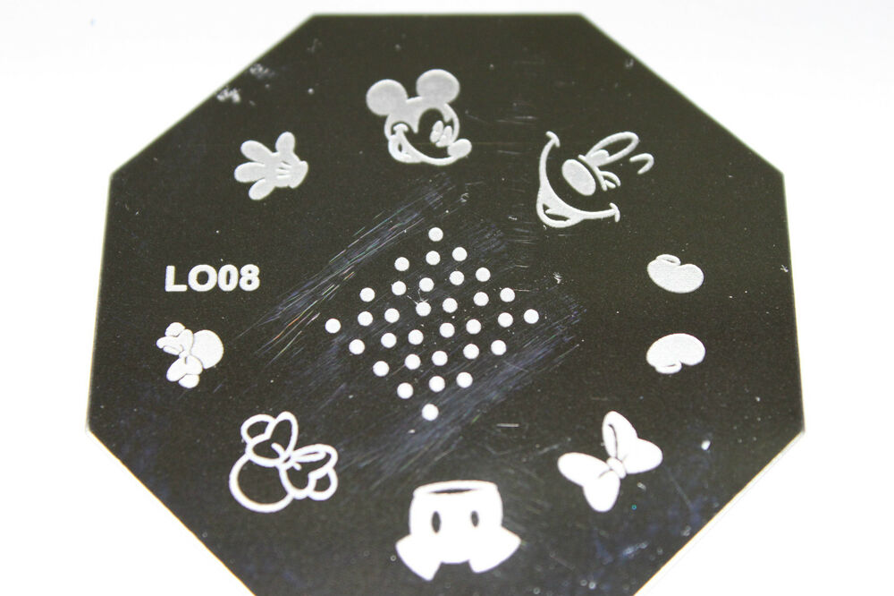Stamping Device Nail Art Plate Mickey Lo08 Ebay