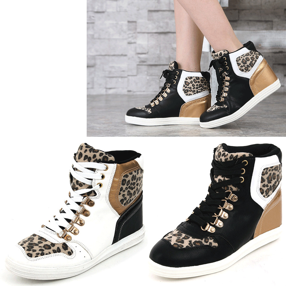 Epic7snob Womens Shoes Fashion Sneakers High Top Wedges ...