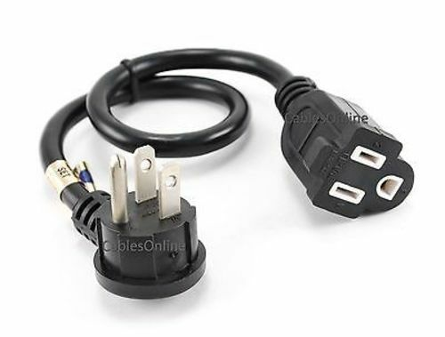 Flat Extension Cord : Quot flat plug power extension cord saver awg sjt nema