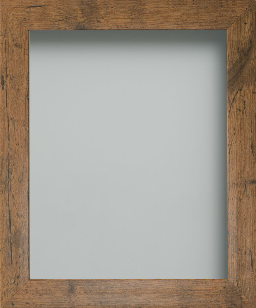 Rustic Or Dark Oak Wood Effect Picture Photo Frames Fitted