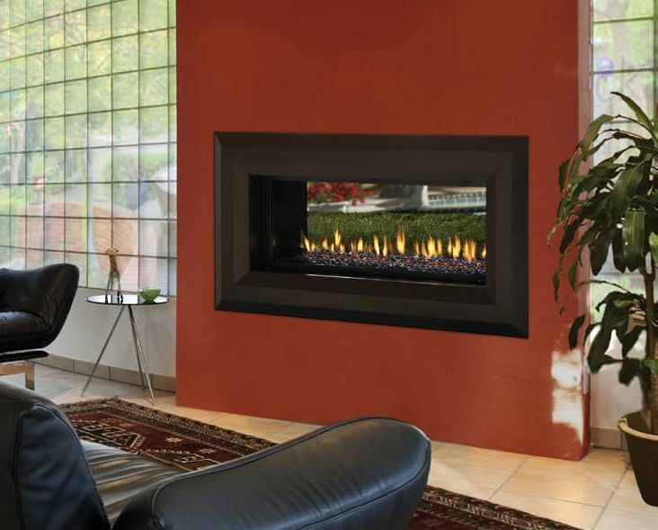 Venice Lights See Through Modern Linear Gas Fireplace By Fmi Indoor Outdoor Ebay