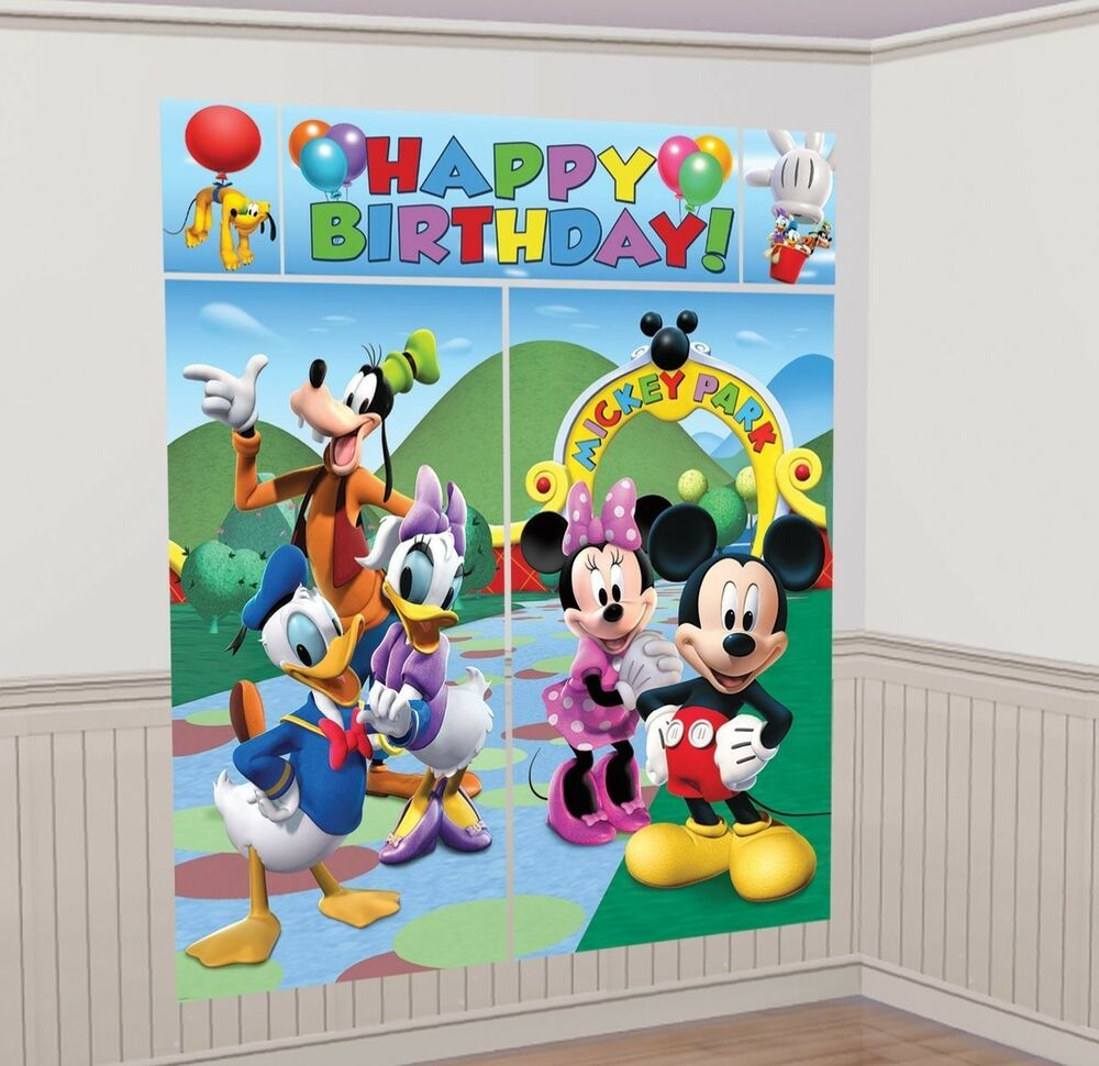 MICKEY MOUSE CLUBHOUSE SCENE SETTER Birthday Party Wall