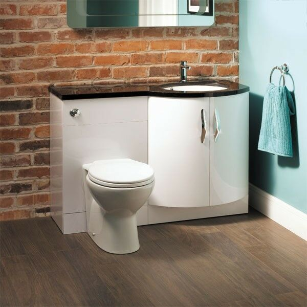 Toilet Sink Unit : ... Toilet Bathroom Suite Right Hand Combination Unit Basin Sink WC eBay