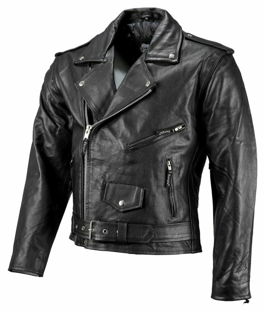 bangla herren motorrad chopperjacke leder jacke s 6 xl. Black Bedroom Furniture Sets. Home Design Ideas