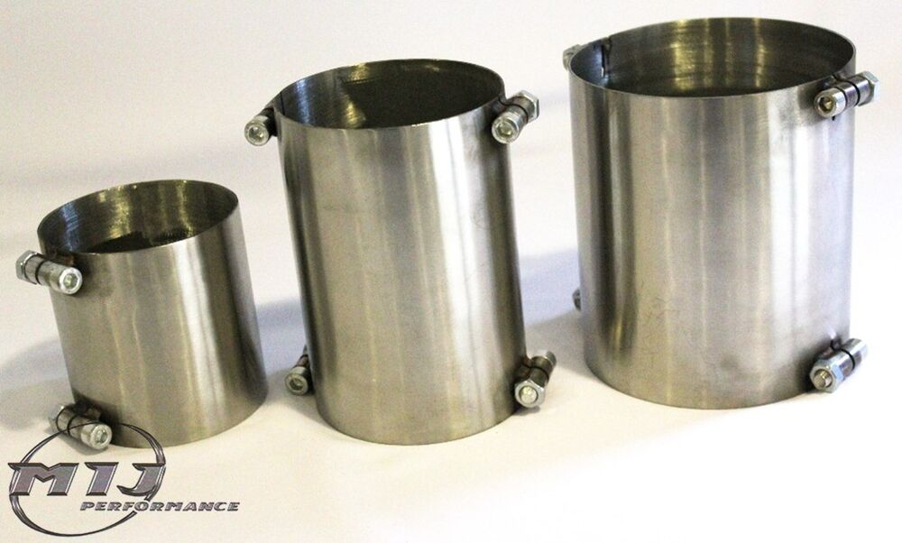 Quot mm stainless steel exhaust sleeve repair straight