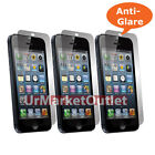 3x Front & Back Matte Anti Glare LCD Screen Protector for NEW Apple iPhone5