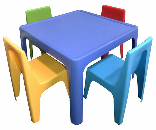 childrens table and 4 chairs kids resin table and chair set ebay. Black Bedroom Furniture Sets. Home Design Ideas