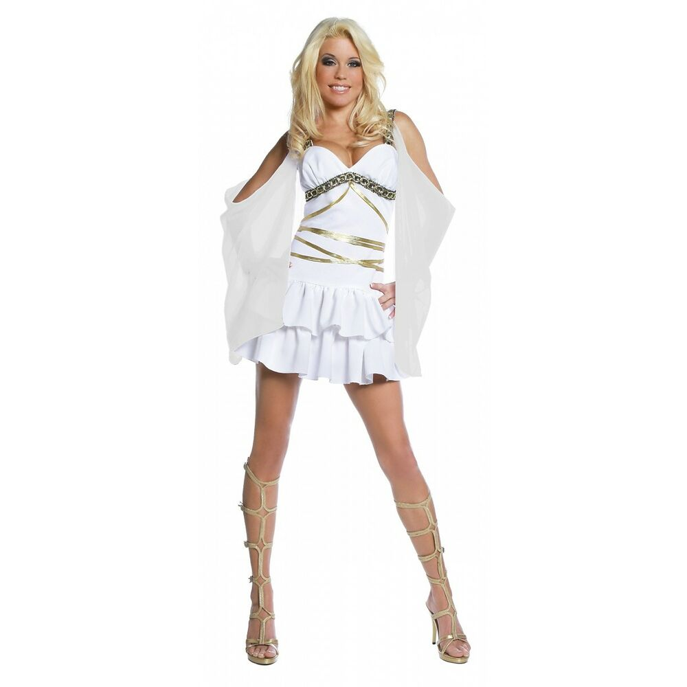 Aphrodite Greek Goddess Costume Halloween Fancy Dress | eBay