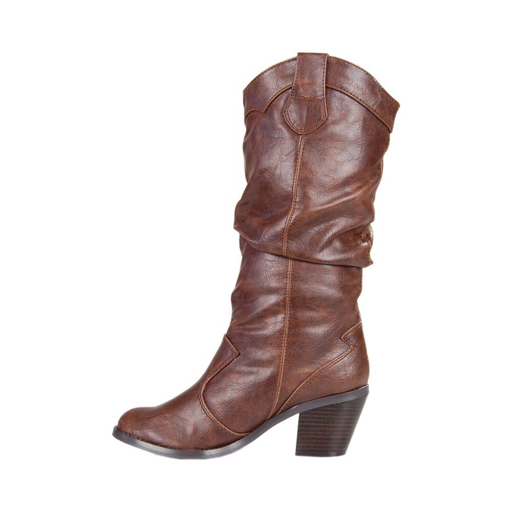 soda western cowboy boots brown color