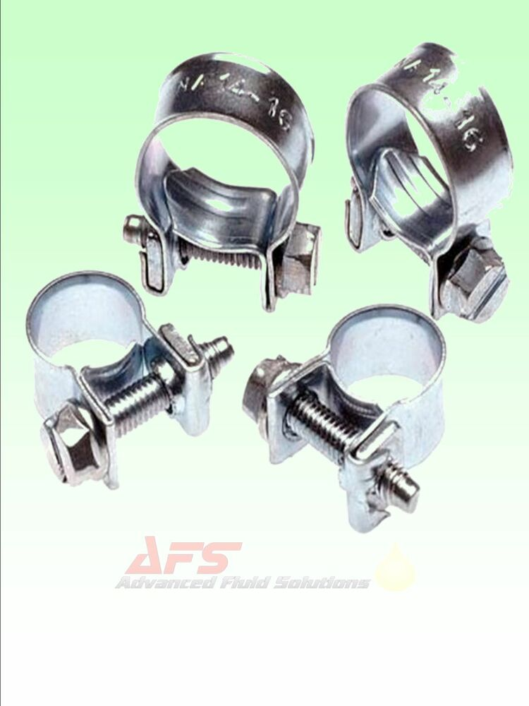 Zinc plated jubilee mini hose clips clamps pipe nut bolt