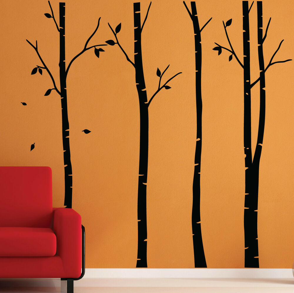 Birch tree wall stickers wall graphics wall art wall birch tree wall stickers wall graphics wall art wall decorations ebay amipublicfo Choice Image