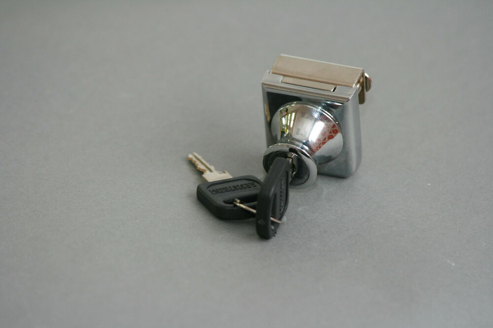 Chrome Glass Cabinet Door Lock No Drill Style C407 5 110