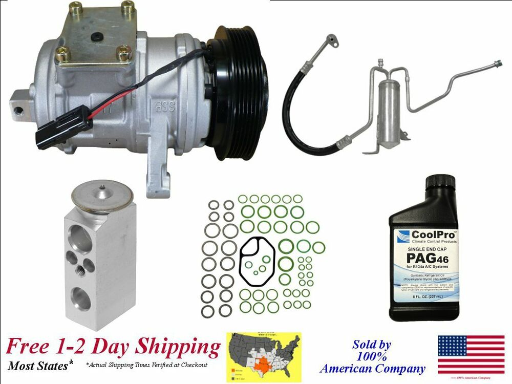 new a c ac compressor kit for 2002 2004 jeep grand cherokee 4 0l engines ebay. Black Bedroom Furniture Sets. Home Design Ideas