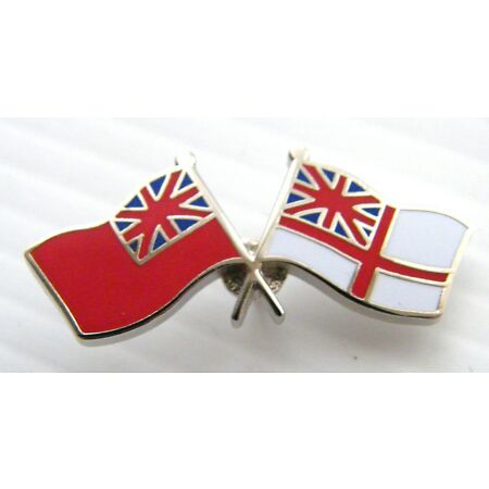 img-THE ROYAL NAVY ENSIGN WHITE RED ENSIGN PIN BADGE FREE GIFT POUCH MOD APPROVED