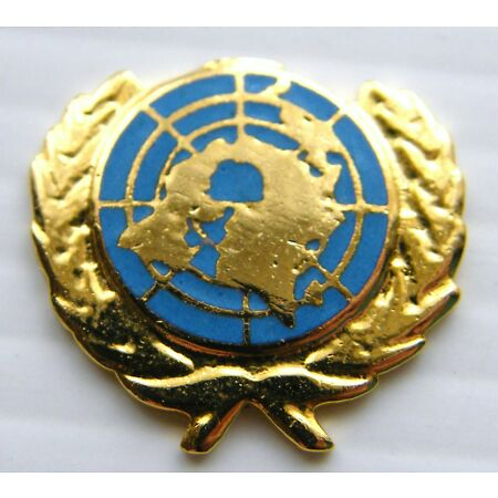 img-THE UNITED NATIONS UN BLUE ARMY MILITARY LAPEL PIN BADGE IN FREE GIFT POUCH