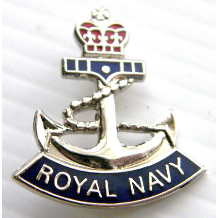 img-THE ROYAL NAVY ANCHOR NAVAL RN 26MM MILITARY LAPEL PIN BADGE IN FREE GIFT POUCH