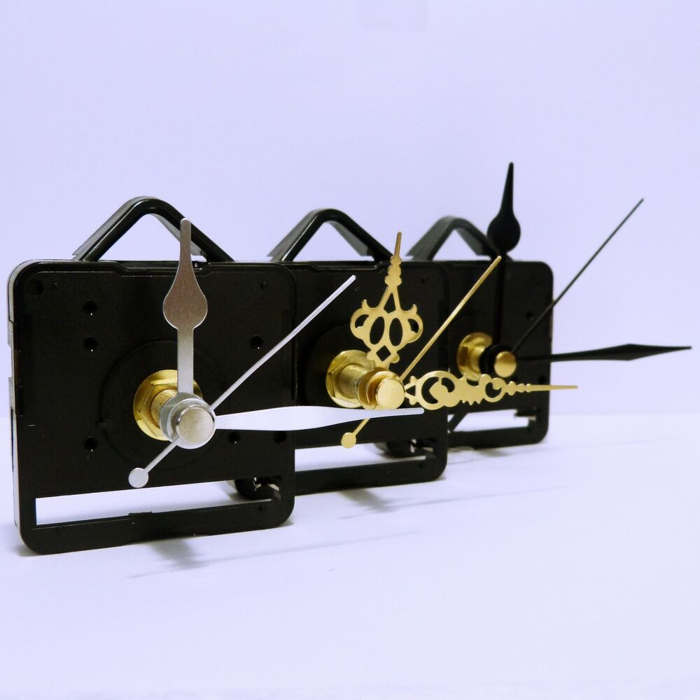 Quartz clock movement sweep mechanism non ticking with for Clock mechanisms for craft projects