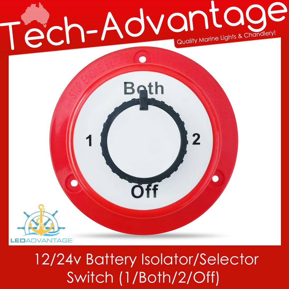 12  24v Dual Battery Isolator Selector Switch