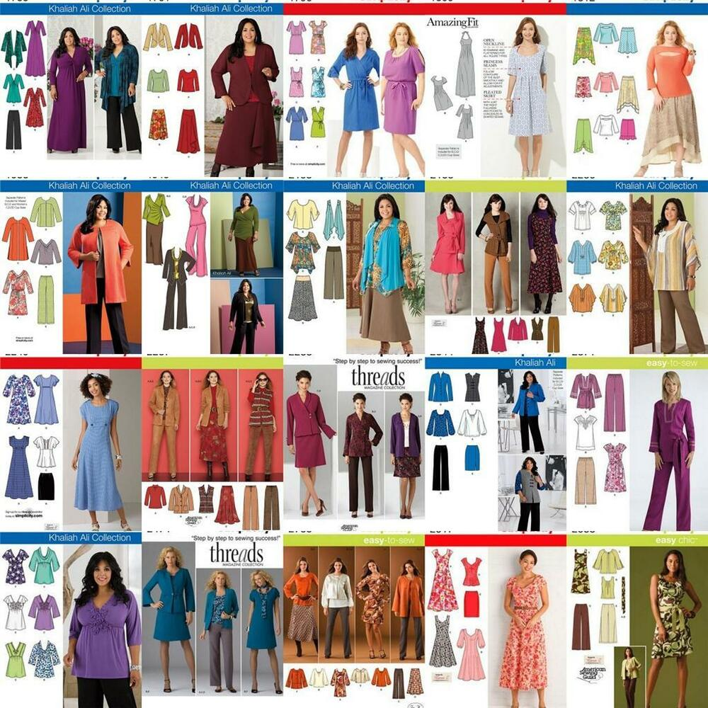 New Simplicity Plus Size Sewing Patterns Womens Size 20W ...
