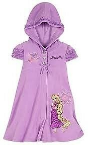 Disney Store Rapunzel Tangled Hooded Pool Towel Cover Up